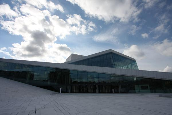 Picture of Oslo Opera House seen from the plazaOslo - Norway