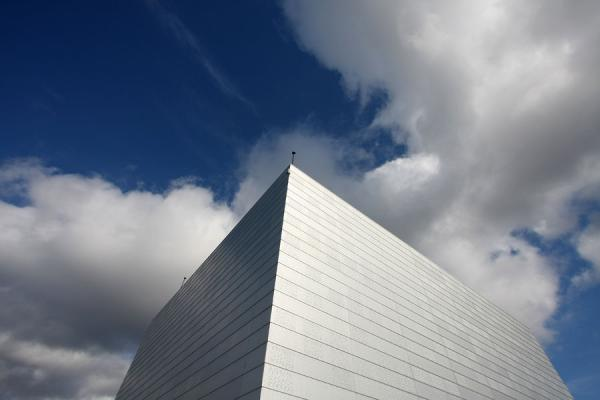 Picture of Oslo Opera House (Norway): Silvery cube on top of the roof of the Oslo Opera House