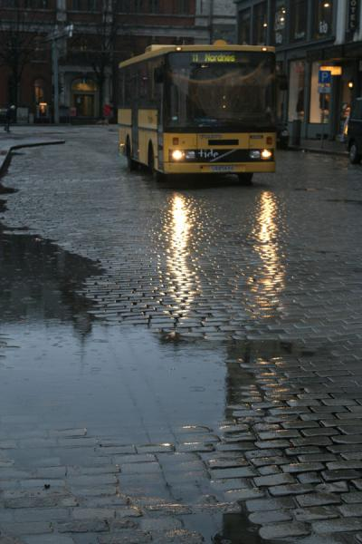 Picture of Rain making the days dark in Bergen