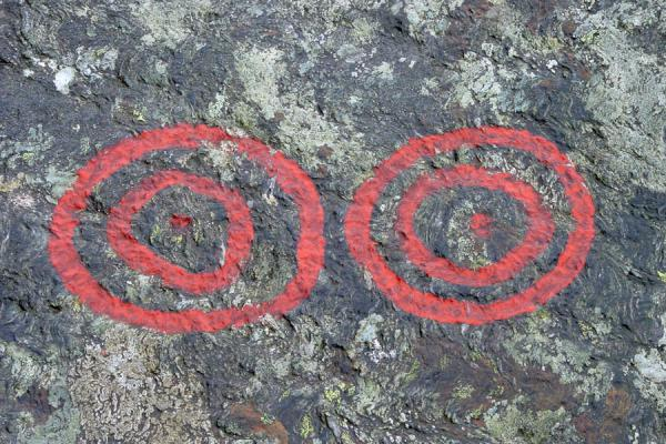 Picture of Concentric circles depicting sun, Stavanger