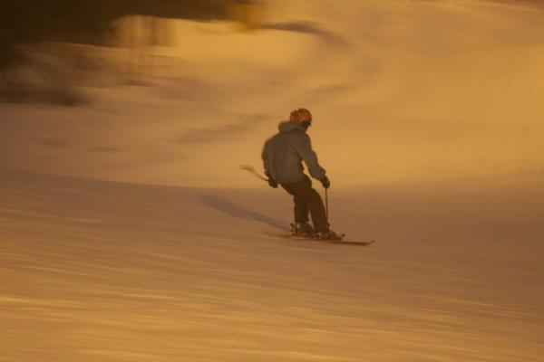 Skier on a slope at Tryvann | Tryvann skiing | Norway
