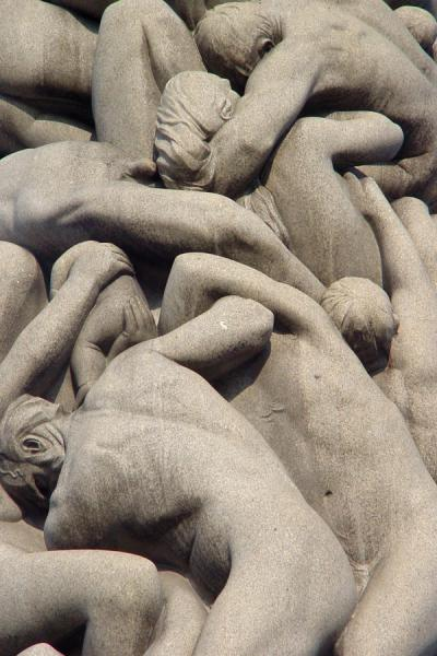 Closeup of Monolith | Vigeland Park | Norway