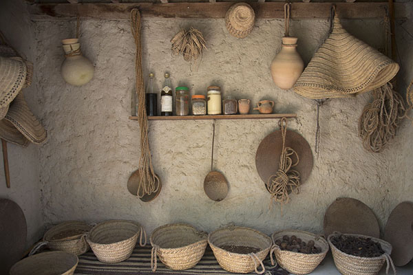 Picture of Objects inside a traditional Omani hut, or barastiMuscat - Oman