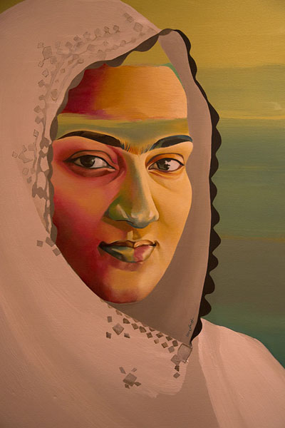 Foto van One of the paintings of an Omani woman in Bait al BahdhahMuscat - Oman