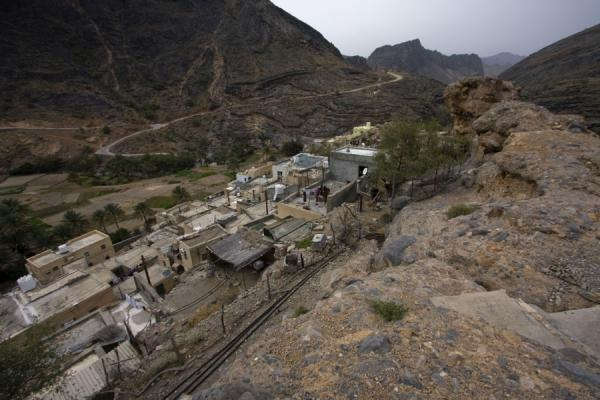 Picture of Bilad Sayt (Oman): View from the ridge under which Bilad Sayt is built