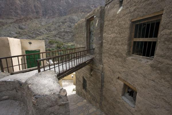 Bridge leading to a traditional house in Bilad Sayt | Bilad Sayt | Oman