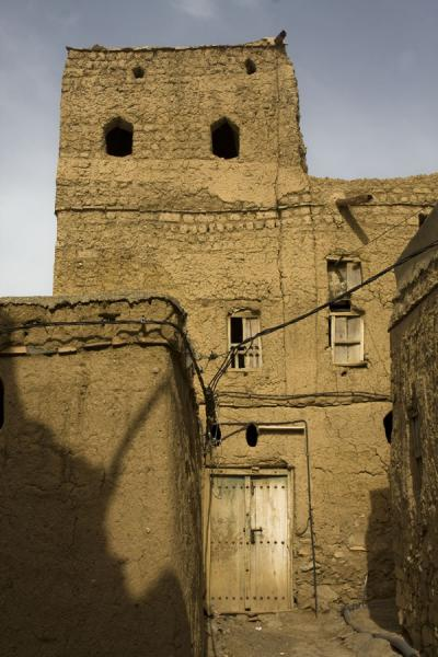 Old adobe house in the old part of Al Hamra | Hamra Old Town | Oman