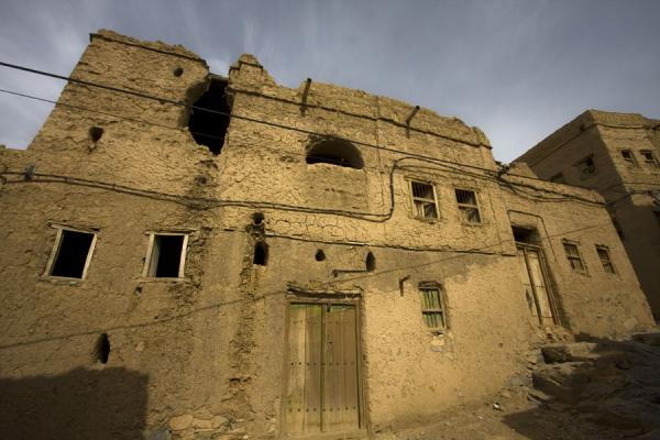 Several adobe houses in the old part of Al Hamra | Hamra Old Town | Oman