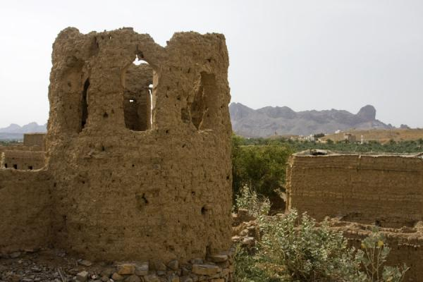 Picture of Old crumbling watchtower looking out over the old part of Al Hamra