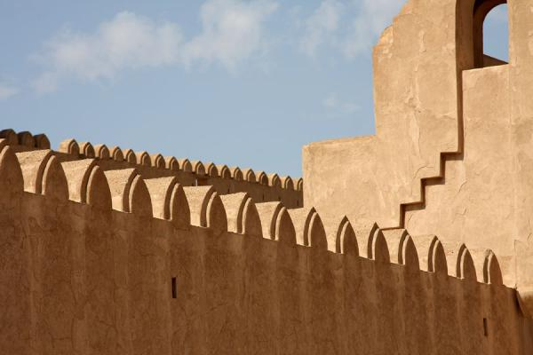 Picture of Jabrin Castle (Oman): Close-up of Jabrin Castle