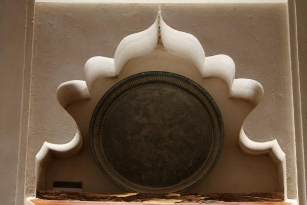 Picture of Jabrin Castle (Oman): Detail of decorated niche in Jabrin Castle