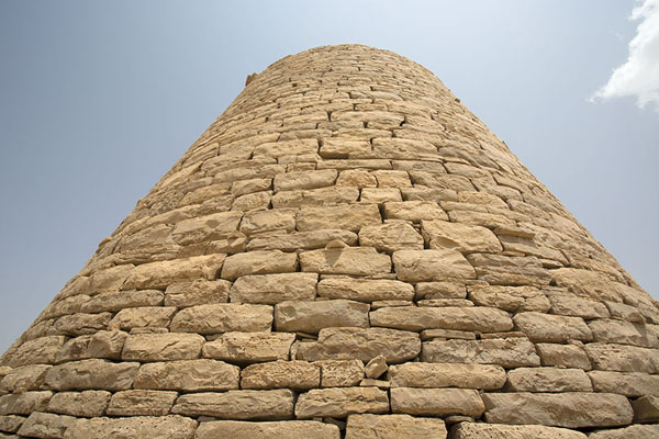 Picture of Jaylah beehive tombs (Oman): One of the neatly constructed beehive tombs seen from below