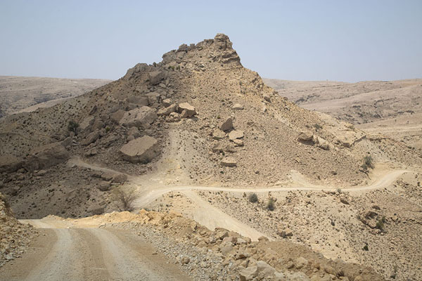 Picture of Jaylah beehive tombs (Oman): Track through the barren landscape near the beehive tombs