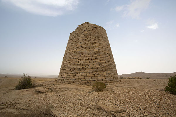 Picture of Jaylah beehive tombs (Oman): One of the almost completely intact beehive tombs