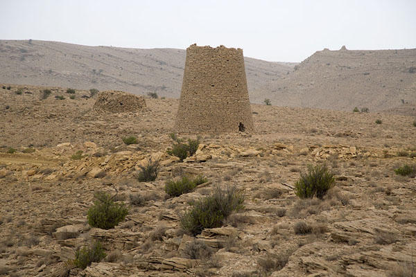 Foto van Several beehive tombs in the landscape near JaylahJaylah - Oman