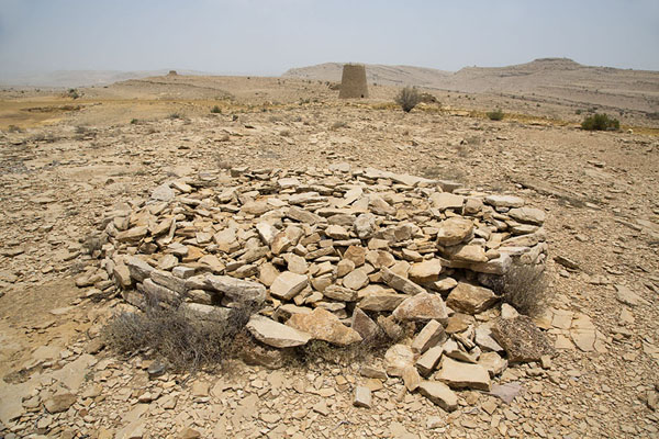 Almost completely collapsed beehive tomb | Jaylah beehive tombs | Oman