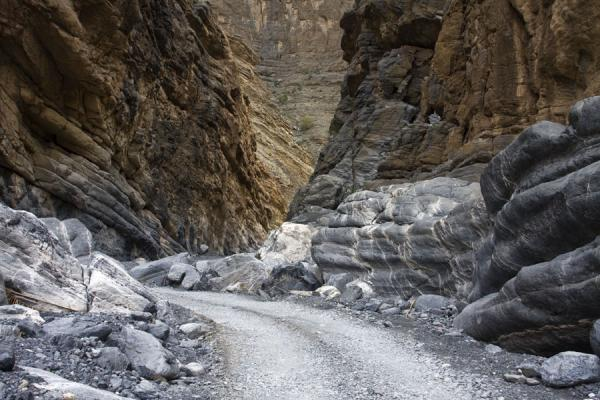 Track leading through Wadi Nakhr | Jebel Shams Grand Canyon | Oman