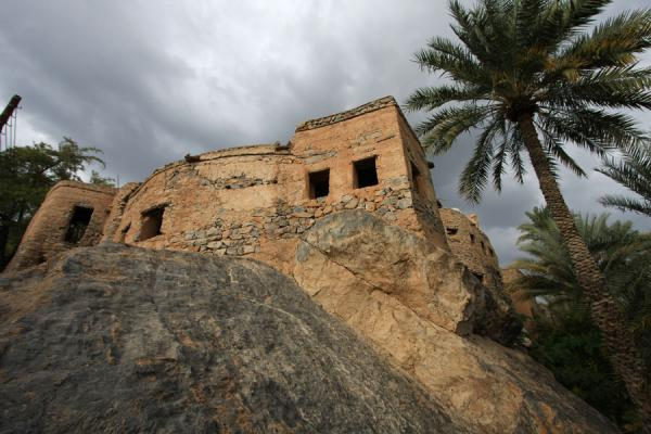 Picture of Misfat (Oman): Rocks are used as the foundation of houses in Misfat