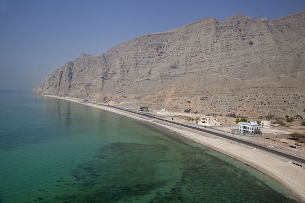 Picture of Coastal road on the west side of Musandam, with empty beach and clear seas