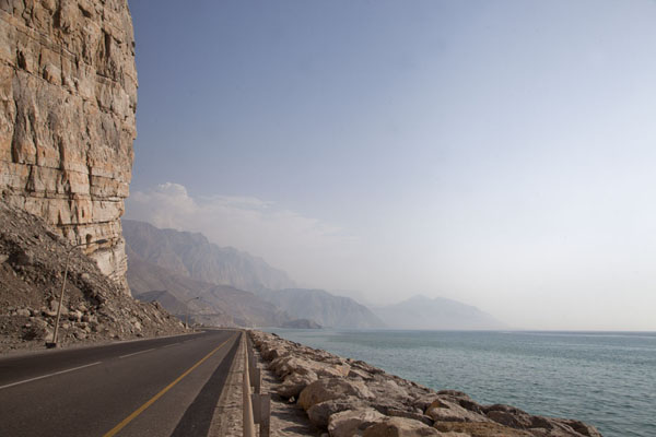 The coastal road on the west side of Musandam peninsula | Musandam Coastline | Oman