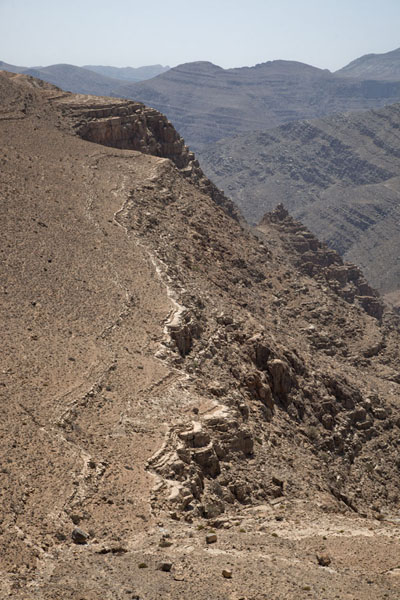 Rock formations and canyons just south of Jebel Harim | Musandam mountains | Oman