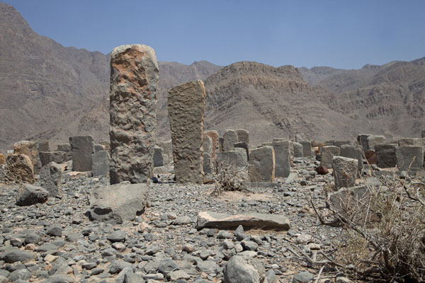 Foto van One of the cemeteries in Rawdah BowlMusandam Peninsula - Oman