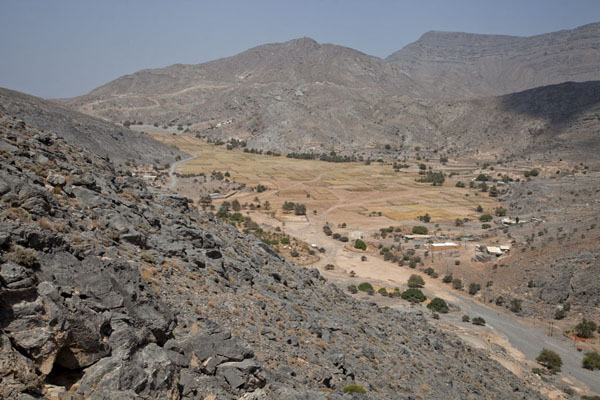 Foto van Looking down on Sayh plateauMusandam Peninsula - Oman