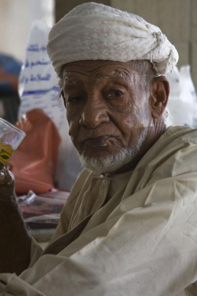 Old Omani in traditional dress | Mutrah Fish Suq | Oman