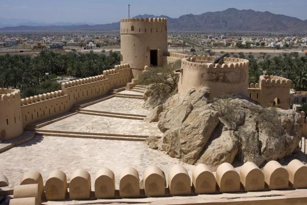 Picture of Looking out over Nakhal Fort and surrounding landscape
