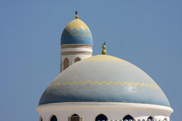 Cupola and minaret of the main mosque of Qurayat | Qurayat | Oman