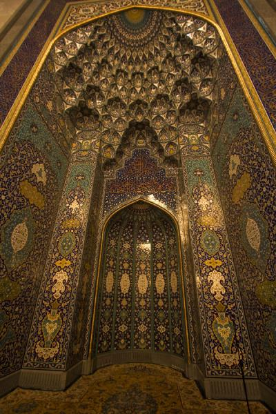 The mihrab in the main prayer hall of the Grand Mosque | Sultan Qaboos Grand Mosque | Oman