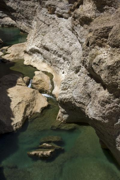 Picture of Wadi Shab (Oman): Water and small waterfalls in Wadi Shab