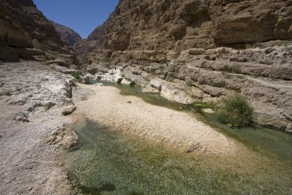 Picture of Wadi Shab (Oman): Water flowing through rocky Wadi Shab