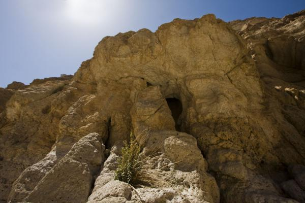 Looking up at the rocky cliffs of Wadi Shab | Wadi Shab | Oman