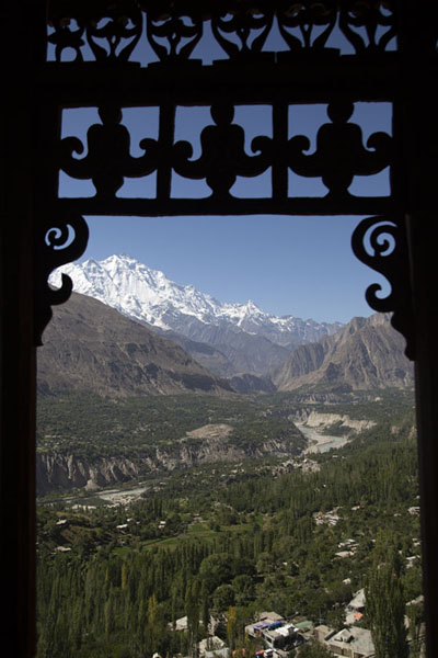 View towards Rakaposhi mountain from inside Baltit Fort | Forteresse de Baltit | Pakistan