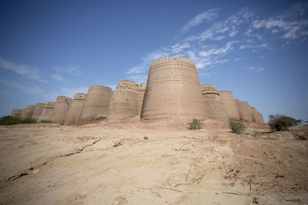 View of Derawar Fort from the southwest side | Fortaleza de Derawar | Pakistan