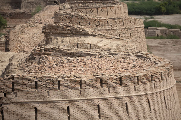 Row of bastions seen from above | Fortaleza de Derawar | Pakistan