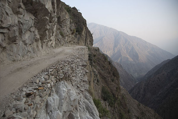 Picture of The abyss starts right at the edge of the roadTato - Pakistan