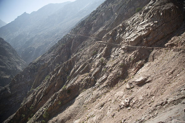 Picture of Looking ahead into the Raikhot valley with the jeep track on the rightTato - Pakistan