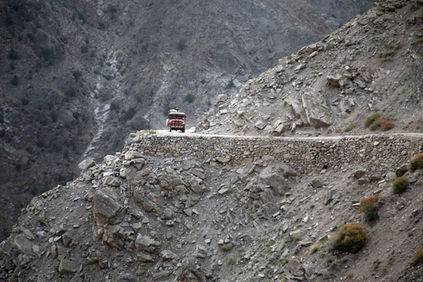 Jeep driving the track up to Fairy Meadows | Route a Fairy Meadows | Pakistan