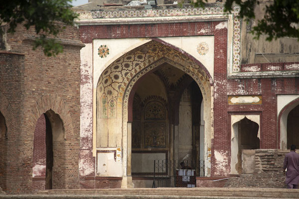 Entrance gate to Shah Burj Quadrangle from the outside | Lahore Fort | Pakistan