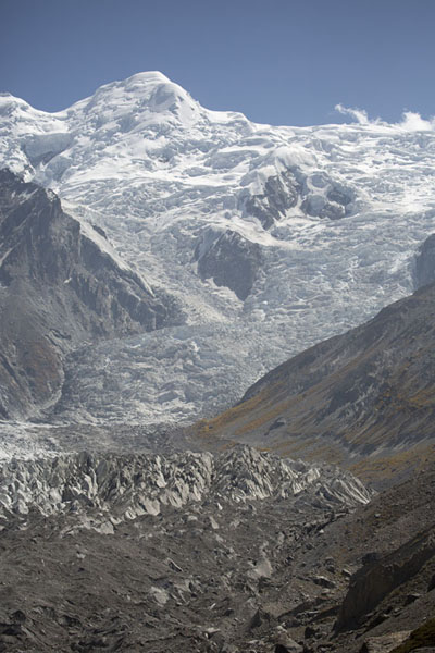 Picture of Raikhot glacier running down Chongra Peak