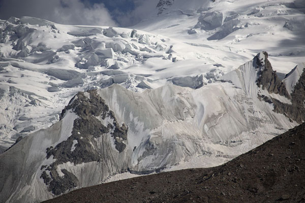 Foto di Close-up of the higher-altitude Raikhot glacierCampo Base Nanga Parbat - Pakistan