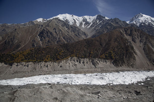 Looking across Raikhot glacier with Buldar Peak in the background - 巴基斯坦