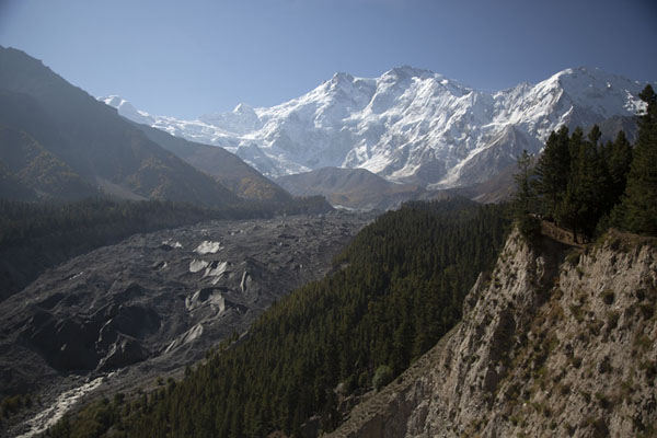 Early morning view of Raikhot glacier and Nanga Parbat in the backgroud | Campo Base Nanga Parbat | Pakistan