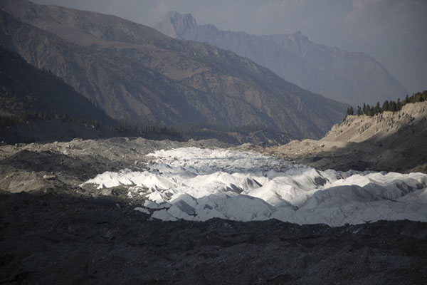 Raikhot glacier meandering its way down the valley | Campo Base Nanga Parbat | Pakistan