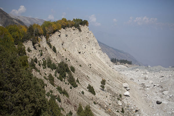Foto di The moraine wall with Raikhot glacier on the rightCampo Base Nanga Parbat - Pakistan