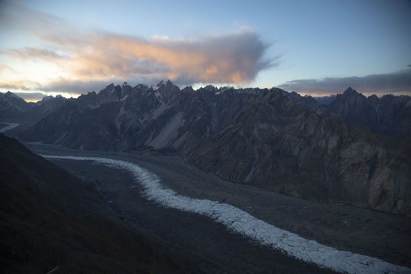 Batura glacier at the end of the day | Patundas | Pakistan