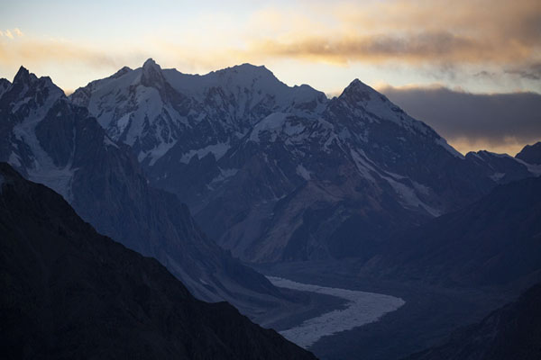 Sunset over the Karakoram mountains seen from Patundas Peak | Patundas | Pakistan