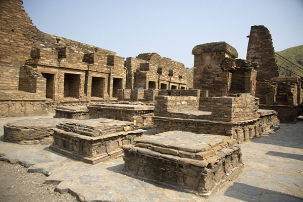 The central stupa court with several platforms | Takht-i-Bahi | Pakistan